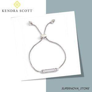 Kendra Scott Stan Silver Bracelet White Pearl Bar